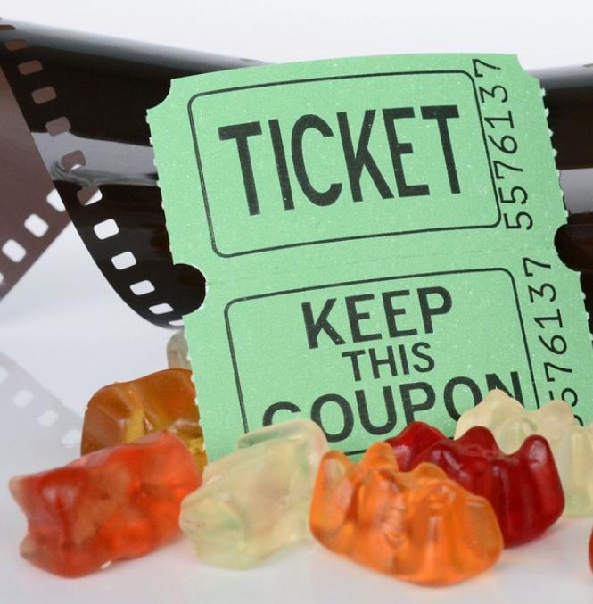 Eintrittskarte für einen Kinofilm