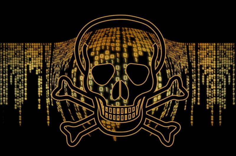 Totenkopf als Computervirus