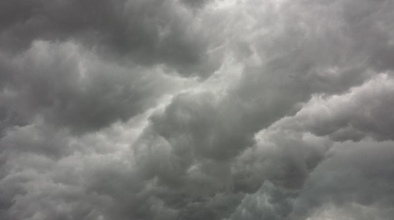 Graue Wolken