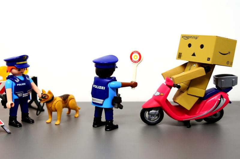Verkehrskontrolle mit Eigensicherung