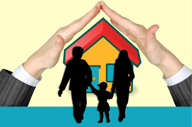 Schutzbedürftige Familie